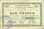 Banknotes Origny-Ste-Benoite (02). Commune. Billet. S.Q.G., 10 francs 27.10.1917