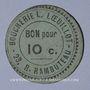 Banknotes Paris (75). Boucherie L. Loeuillot (23 rue Rambuteau). Billet. Bon pour 10 centimes