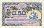 Banknotes Paris (75). Chambre de Commerce. Billet. 50 centimes 10.3.1920, série A.2