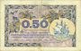 Banknotes Paris (75). Chambre de Commerce. Billet. 50 centimes 10.3.1920, série A.30