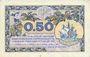 Banknotes Paris (75). Chambre de Commerce. Billet. 50 centimes 10.3.1920, série B.13