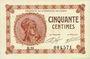 Banknotes Paris (75). Chambre de Commerce. Billet. 50 centimes 10.3.1920, série B.31