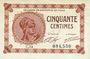 Banknotes Paris (75). Chambre de Commerce. Billet. 50 centimes 10.3.1920, série C.14