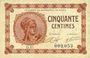 Banknotes Paris (75). Chambre de Commerce. Billet. 50 centimes 10.3.1920, série D.15