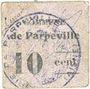 Banknotes Parpeville (02). Commune. Billet. 10 centimes