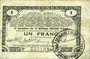 Banknotes Pas de Calais, Somme et Nord, Groupement de 70 communes. Billet. 1 franc 23.4.1915 série 2A