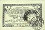 Banknotes Pas de Calais, Somme et Nord, Groupement de 70 communes. Billet. 1 franc 23.4.1915 série 2I