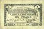 Banknotes Pas de Calais, Somme et Nord, Groupement de 70 communes. Billet. 1 franc 23.4.1915 série 2S