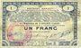 Banknotes Pas de Calais, Somme et Nord, Groupement de 70 communes. Billet. 1 franc  23.4.1915 série 3