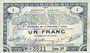 Banknotes Pas de Calais, Somme et Nord, Groupement de 70 communes. Billet. 1 franc 23.4.1915 série 3B