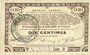Banknotes Pas de Calais, Somme et Nord, Groupement de 70 communes. Billet. 10 centimes 23.4.1915 série 9