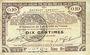 Banknotes Pas de Calais, Somme et Nord, Groupement de 70 communes. Billet. 10 centimes 23.4.1915 série 9B
