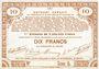 Banknotes Pas de Calais, Somme et Nord, Groupement de 70 communes. Billet. 10 francs  23.4.1915 série 5