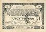 Banknotes Pas de Calais, Somme et Nord, Groupement de 70 communes. Billet. 2 francs 23.4.1915 série 3C