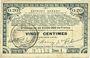 Banknotes Pas de Calais, Somme et Nord, Groupement de 70 communes. Billet. 20 centimes 23.4.1915 série 1