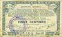 Banknotes Pas de Calais, Somme et Nord, Groupement de 70 communes. Billet. 20 centimes 23.4.1915 série 1B
