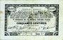 Banknotes Pas de Calais, Somme et Nord, Groupement de 70 communes. Billet. 50 centimes 23.4.1915 série 1J