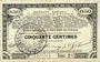 Banknotes Pas de Calais, Somme et Nord, Groupement de 70 communes. Billet. 50 centimes 23.4.1915 série 2C