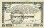 Banknotes Pas de Calais, Somme et Nord, Groupement de 70 communes. Billet. 50 centimes 23.4.1915 série 2E