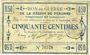 Banknotes Péronne (80). Bon de guerre de la Région de Péronne. Billet. 50 centimes 2.9.1915