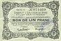 Banknotes Poix-Terron (08). Syndicat d'Emission. Billet. 1 franc, 4e émission, décembre 1917, série C