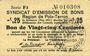 Banknotes Poix-Terron (08). Syndicat d'Emission. Billet. 25 centimes, 2e émission, mai 1917, série F3