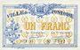 Banknotes Pontoise (78). Union du Commerce et de l'Industrie. Billet. 1 franc, série F. 17var