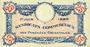 Banknotes Pyrénées Orientales (66). Syndicats Commerciaux. Billet. 25 centimes 1.6.1920, série A