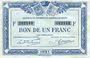 Banknotes Quimper & Brest (29). Chambres de Commerce. Billet. 1 franc 1921, série F