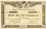 Banknotes Quimper & Brest (29). Chambres de Commerce. Billet. 50 centimes 1915 série A