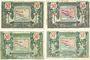 Banknotes Région Provençale (13). Billets. 50 centimes, série R12, R24, R6, R9