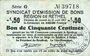 Banknotes Rethel (08). Syndicat d'Emission. Billet. 50 centimes 21.4.1917, 2e émission, série G