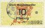 Banknotes Ribeauvillé (Rappoltsweiler) (68). Ville. Billet. 10 pfennig (1917)