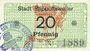 Banknotes Ribeauvillé (Rappoltsweiler) (68). Ville. Billet. 20 pfennig (1917)