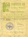 Banknotes Ribeauvillé (Rappoltsweiler) (68). Ville. Billet, carton. 0,50 mark. Annulation au revers par cachet