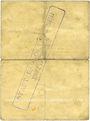 Banknotes Ribeauvillé (Rappoltsweiler) (68). Ville. Billet, carton. 1 mark. Annulation au revers par cachet