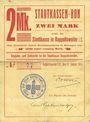 Banknotes Ribeauvillé (Rappoltsweiler) (68). Ville. Billet, carton. 2 mark. Annulation au revers par cachet