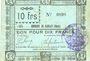 Banknotes Rieulay (59). Commune. Billet. 10 francs 1914