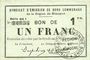Banknotes Rimogne (08). Syndicat d'Emission. Billet. 1 franc 19.11.1917, série GG 1