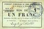 Banknotes Rimogne (08). Syndicat d'Emission. Billet. 1 franc 30.6.1916, série H 8