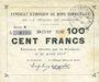 Banknotes Rimogne (08). Syndicat d'Emission. Billet. 100 francs 26.4.1917, série N