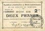 Banknotes Rimogne (08). Syndicat d'Emission. Billet. 2 francs 19.11.1917, série FF