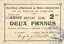 Banknotes Rimogne (08). Syndicat d'Emission. Billet. 2 francs 30.6.1916, série J 2