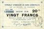 Banknotes Rimogne (08). Syndicat d'Emission. Billet. 20 francs 19.11.1917, série CC
