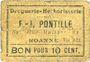Banknotes Roanne (42). Droguerie F. - J. Pontille. Billet. 10 centimes. Inédit !