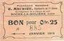 Banknotes Roche-la-Molière (42). Pharmacie Moderne C. Maurice. Billet. 25 centimes 30.7.1918, N° 885