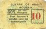 Banknotes Roubaix (59). Billet. 10 centimes, armoiries (6 mm)