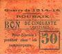 Banknotes Roubaix (59). Billet. 50 centimes, armoiries (11 mm). Inédit !