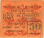 Banknotes Roubaix (59). Billet. 50 centimes, armoiries (5 mm)