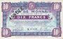 Banknotes Roubaix et Tourcoing (59). Billet. 10 francs du 20.4.1916, 7e série. N° 8002. ANNULE